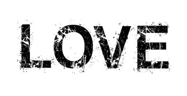 Liefdetekst in grungestijl