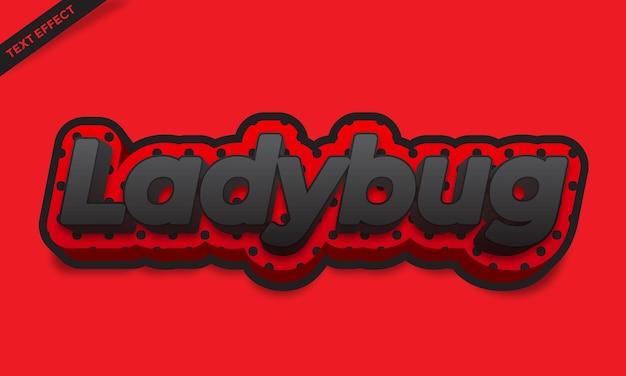 Lieveheersbeestje rood teksteffectontwerp