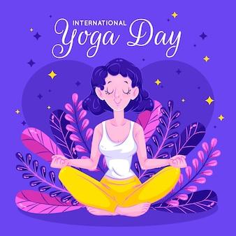 Lifestyle geest en lichaam lotus yoga-positie