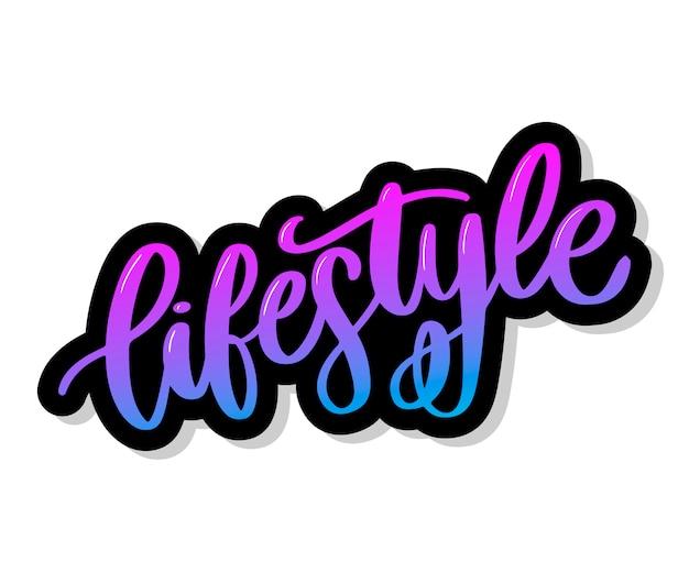Lifestyle gezond voedsel poster of het spandoek met hand getrokken fruit en belettering tekst gezonde levensstijl op groene achtergrond.