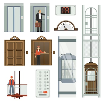 Lift icon set