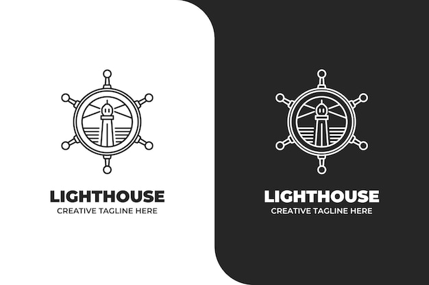 Lighthouse sailor navigatie logo