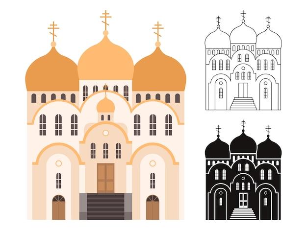 Lijn en platte kerkgebouwen