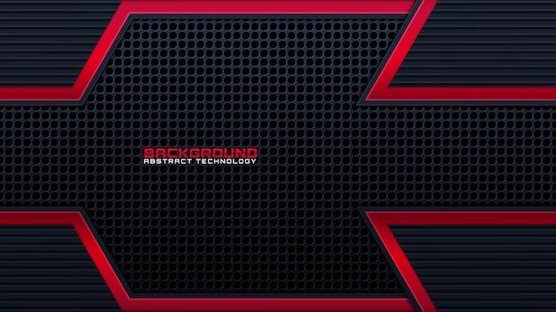 Lijn gloed rood op zwart voor achtergrond, moderne kunst lijn gloeiende rode kleur voor technologie concept, neon effect glans met rode gloed lijn, licht rode heldere glans in lijn vorm, lichtstraal gloeien, vector