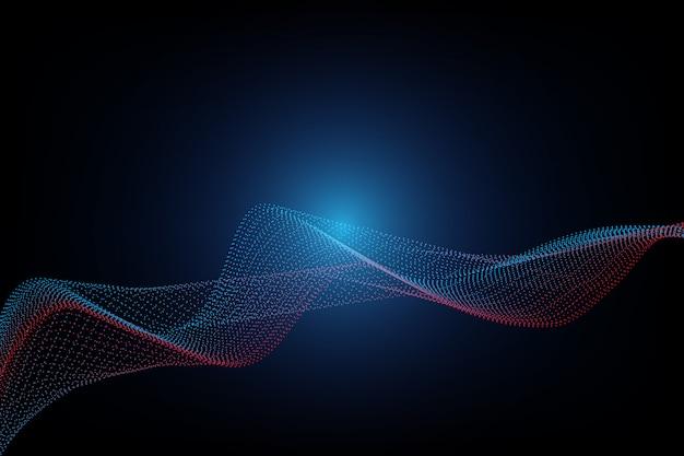 Lijn golf deeltjes abstracte achtergrond