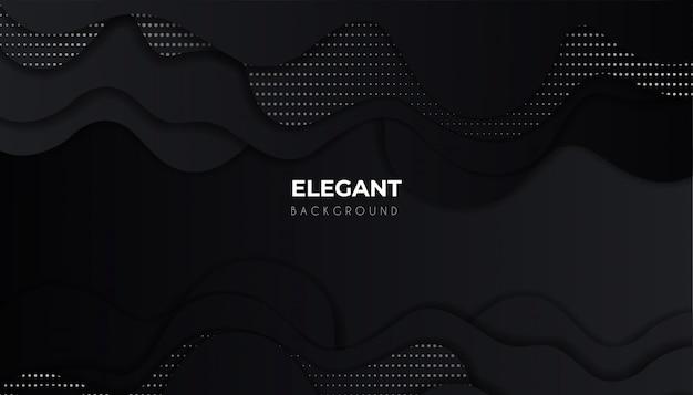 Lijn golvende geometrische vormen met donkere luxe achtergrond