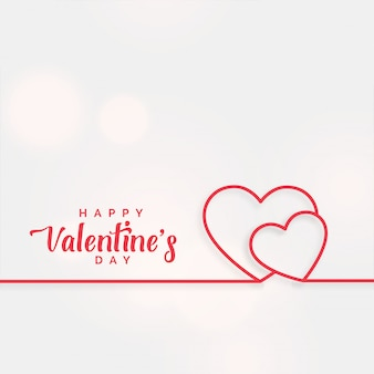 Lijn harten achtergrond voor valentijnsdag