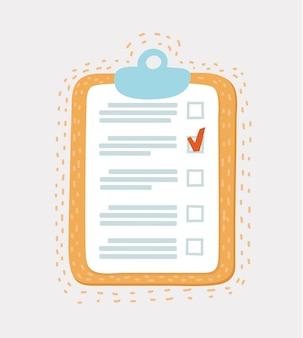 Lijn icoon van checklist met mark