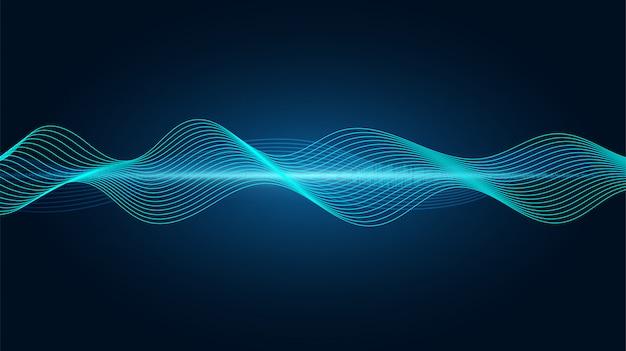 Lijn soundwave abstracte achtergrond
