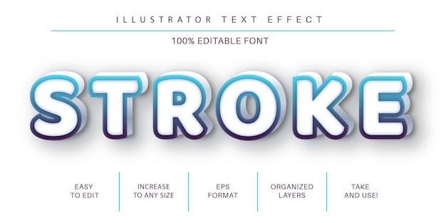 Lijn teksteffect, tekenstijl