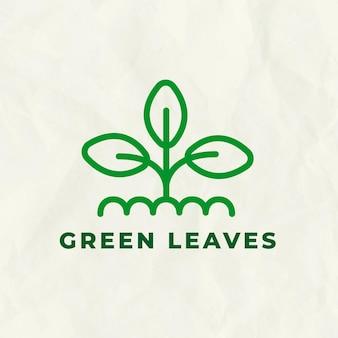 Lijnboom logo sjabloon voor branding met tekst