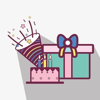 Lijncake met giften en glb-verjaardagsviering