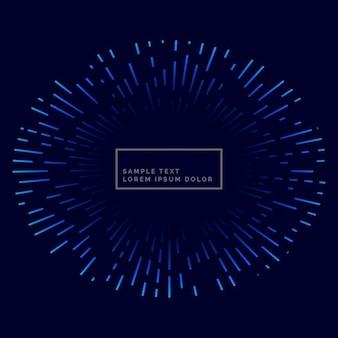 Lijnen barsten buiten blauw thema achtergrond