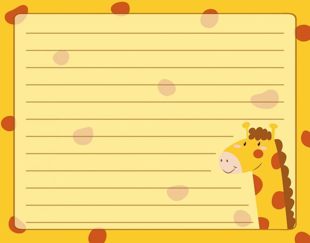 Lijnpapierontwerp met giraf