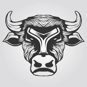 Lijntekeningen van koe