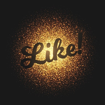 Like golden particles vector lettering