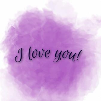 Lila mooie liefde bericht