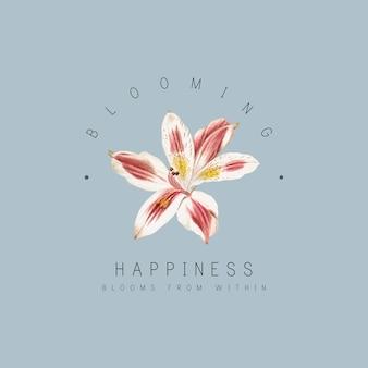 Lily bloem badge