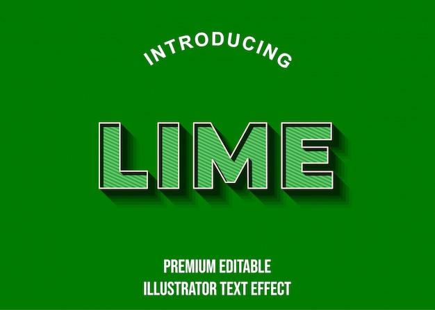 Lime - 3d-donkergroene teksteffectstijl
