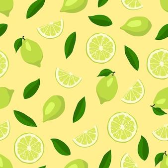 Limes naadloos patroon