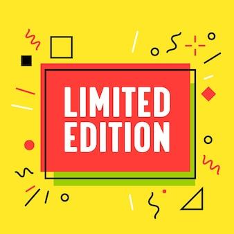 Limited edition-banner in funky stijl voor reclame voor digitale mediamarketing