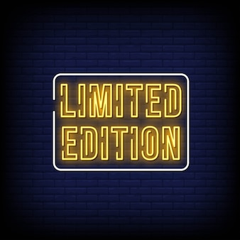 Limited edition neon uithangbord