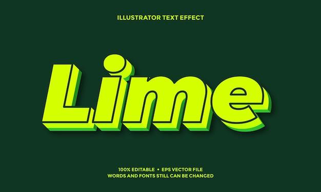 Limoengroen teksteffect of lettertype-effectstijlontwerp