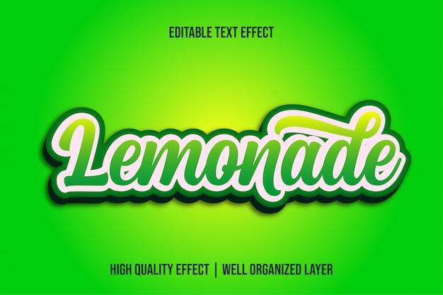 Limonade, groene verloop bewerkbare teksteffectstijl
