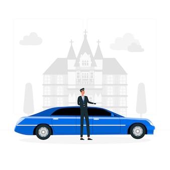 Limousine concept illustratie