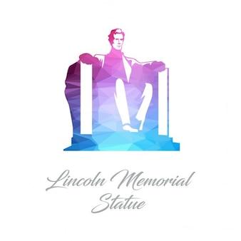 Lincoln memorial statue monument polygon logo