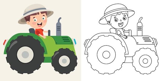 Line art tekening voor kinderen kleurplaat