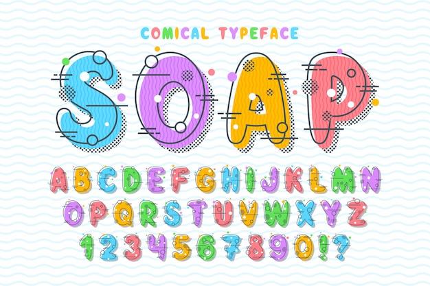 Lineair bellen komisch lettertypeontwerp