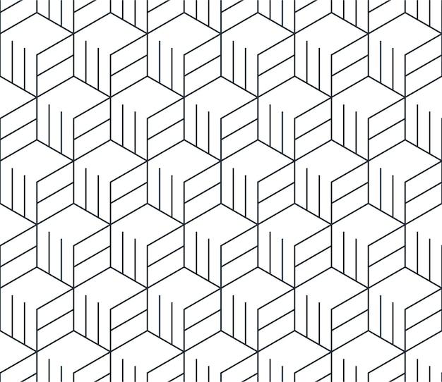 Lineair naadloos patroon, dunne lijnen. subtiele geometrische achtergrond