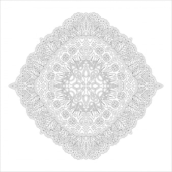 Lineair patroon voor het kleuren van de boekpagina met rozen