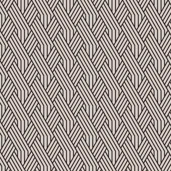 Lineair plat ontwerppatroon met abstracte lijnen