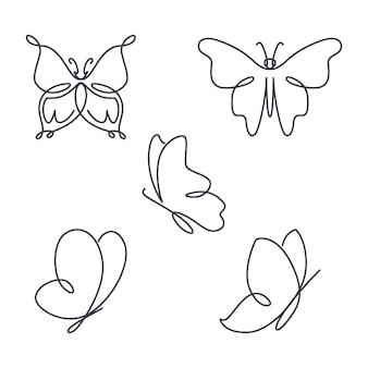 Lineair plat vlinderoverzichtspakket