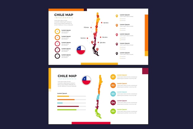 Lineaire chili kaart infographic