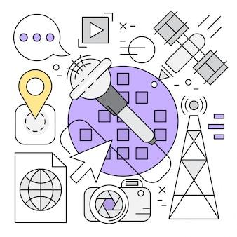 Lineaire multimedia vector elementen