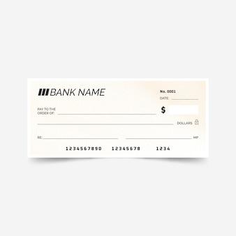 Lineaire platte blanco cheque