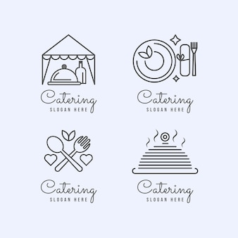 Lineaire platte cateringlogo's