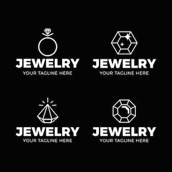 Lineaire platte sieraden logo-collectie