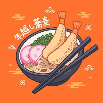 Lineaire platte toshikoshi soba