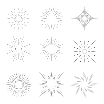 Lineaire platte zonnestraalset