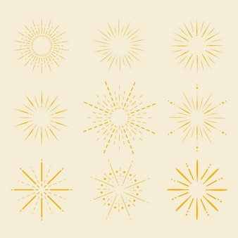 Lineaire platte zonnestralen collectie