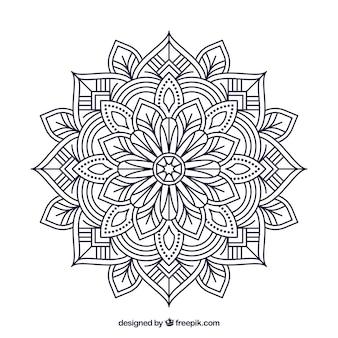 Lineal mandala achtergrond