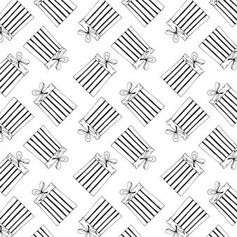 Lineart verjaardag patroon achtergrond