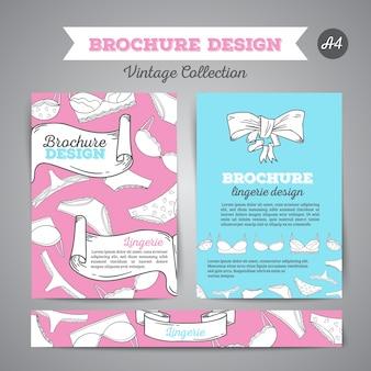 Lingerie brochure ondergoed achtergrond