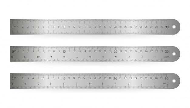 Liniaal, geïsoleerde pictogram pictogram op een witte achtergrond. vector illustratie.