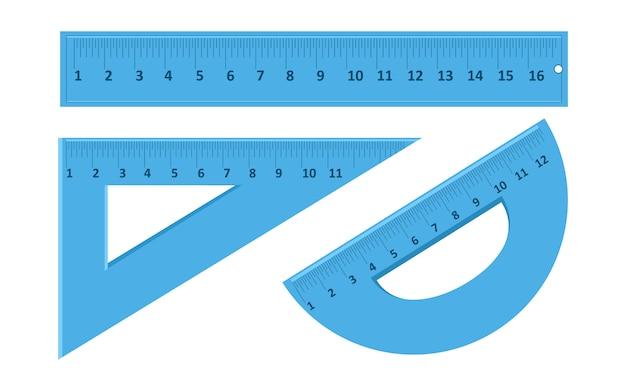 Linialen vector illustratie voor studenten en kinderen