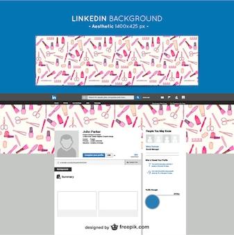 Linkedin esthetische achtergrond